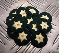 Genuine Military ARMY 6 Point Star Badges Skills / Rank Sewn on Patch X12 MFST1