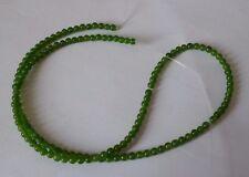 1 Strang Natural Taiwan Jade Perlen Kugeln grün 3mm zur Schmuckherstellung