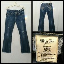 Miss Me Jeans Größe 28 Gemessen 28X30 Bootcut Niedrig Bund Bestickt Inv #F4832