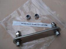 HARLEY DAVIDSON MT350 REAR TORQUE ARM PLATE/BRACKET - STAINLESS STEEL & FITTINGS