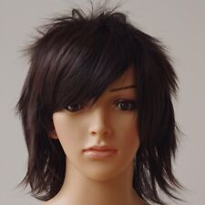 Brand New Halloween Short Wig Shaggy Straight Full Wigs Synthetic Brown Blonde C