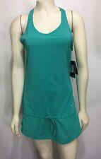 Nike Womens XS Rival Stretch Dri Fit Running Tennis Dress 451423 Teal Green NEW