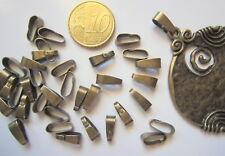 Colgador oval para colgante 11 mm X 20 UNIDADES liso baño bronce abalorios