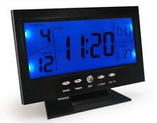 Sveglia Orologio display lcd a Led con Controllo Vocale Temperatura Fuso Orario