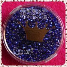 6 GRAMMI ROCAILLES VETRO 10-0 2,2 MM blu medio per embroidery incastonare