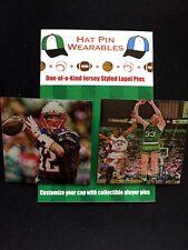 New England Patriots Tom Brady/Boston Celtics Larry Bird lapel pins-The GOATS!