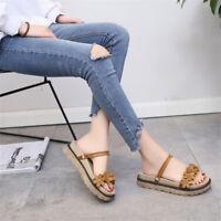 New Women Summer Bohemia Platform Slippers Flip Flops Flat Sandals Beach Shoes