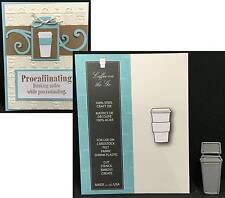 COFFEE ON THE GO metal die by MEMORY BOX dies 99110 Food,drink