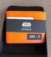 NIXON Star Wars Rebel Pilot Orange SHOWOUT Bi-Fold Coin Pocket Leather Wallet