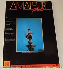 AMATEUR Photo Ciné Vidéo KODAK - N°29 de 1986 - Kodacolor Gold - Le SON - 35mm
