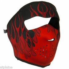 Zanheadgear Moto ski Planche Paintball Masque Facial Neoprene Rouge Wnfm229
