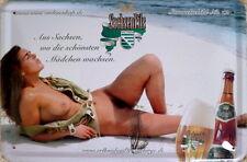 Erotik-Blechschild 20x30 cm - Sachsenpils Nr. 12 / Erotik / Strand
