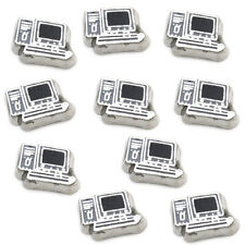 Silver Computer Floating Charm For Living Memory Locket