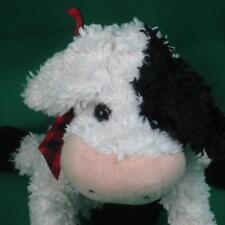 Gund Black White Shaggy Cow Designed By Mica 2537 Plush Stuffed Animal Toy