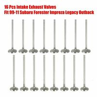 Intake Exhaust Valves Fit 99-11 Subaru Forester Impreza Legacy Outback 2.5L SOHC
