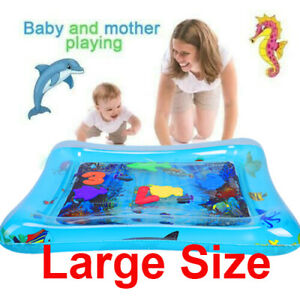 by AUDOMENS Play Water Mat Baby Kids Water Play mat Inflatable Infant Tummy Time Toddler Fun Activity Play Center Water mat for Babies Childrens 1 PCs