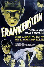 Frankenstein The man Who Made A Monster Movie Poster 13x19