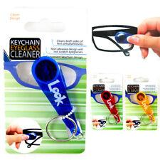 Mini Soft Keychain Eyeglass Cleaner Glasses Spectacles Microfiber Cleaner Wipe !