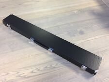 Black Leatherette 2 Piece Pool/ Snooker Cue Case With Extra Space For Extensions