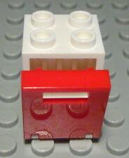 Lego Schrank 2x2x2 Weiss mit Roter Tür                                     (549)