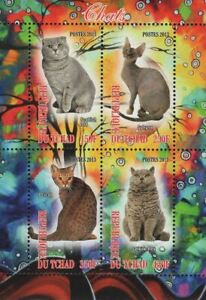 Cat Selkirk Rex Domestic Animal Souvenir Sheet of 4 Stamps Mint NH