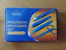 Precision grooming set titanium, tweezers, scissors