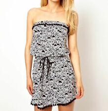 FREYA La Bamba BANDEAU BEACH DRESS Cover Up BLACK Size S 10-12              (s3)