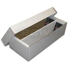 2 New 1600 Card Shoebox Cardboard Storage Box for Cards in Toploaders BCW