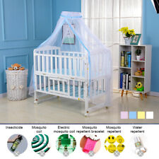 Baby Bed Mosquito Net Mesh Dome Curtain Net for Toddler Crib Cot Canopy White