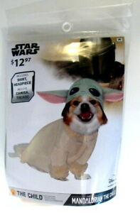 Disney Star Wars The Mandalorian BABY YODA Dog Puppy Costume Sz Medium