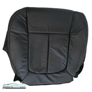 2009-2014 Ford F-150 Lariat XLT Driver Side Bottom Leather Seat Cover Black