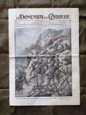 La Domenica del Corriere 6 Agosto 1916 WW1 Alpini Cannone Pirati imperiali