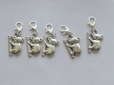 Set of 5 Stitch Markers KOALA BEAR Knitting,Crochet,Charms,Crafts,Accessories
