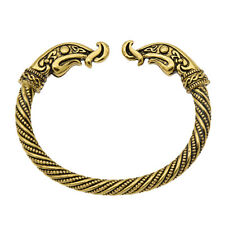 Viking Dragon Bracelet Bangle Men Women Norse Jewelry Twist Cable Cuff Arm Ring