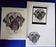 Mastiff Dog 3 Piece Set-Notepad, 6 Blank Notecards and Magnet New
