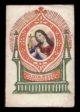santino incisione 1800 S.MARIA MADDALENA dip. a mano