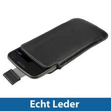 Schwarz Echt Leder BeutelfürSamsung Galaxy Nexus i9250 Android Tasche