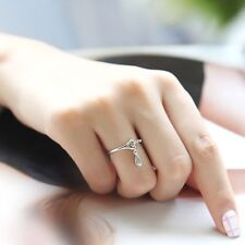 Ring Finger Charms Fashion Chain Heart Jewelry Rings Adjustable Waterdrop