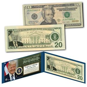 DONALD TRUMP 2020 45th President of the United States Genuine $20 Bill LTD 2020