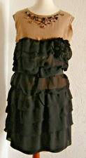 Lanvin for H&M Kleid Dress Seide Schwarz Nude Größe 36.