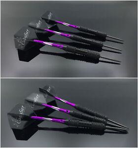 3pcs Set Professional Steel Darts With Aluminium Shafts And Darts & Box Purple