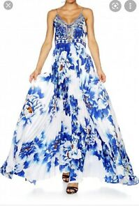 camilla ring of roses pleated dress