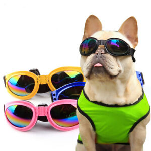 Dog Cat Goggles Eye UV Protection Fold-able Adjustable Waterproof Pet Sunglasses
