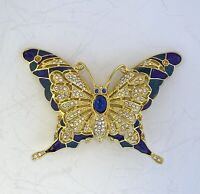 I Am Edgar Berebi Butterfly Brooch Pin From My Archives . 1999 Vintage  Jewelry