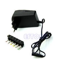 Universal EU AC/DC Adaptor Plug Power Supply 3V 4.5V 5V 6V 7.5V 12V DC Charger