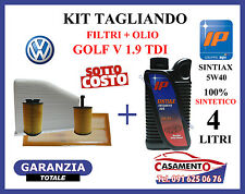 KIT TAGLIANDO FILTRI + OLIO MOTORE IP 5W40 VOLKSWAGEN VW GOLF V 1.9 TDI
