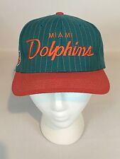 Vintage Miami Dolphins Sports Specialties Script Pinstripe SnapBack Hat