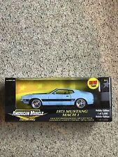1Ertl American Muscle Powder Blue 1973 Mustang Mach 1 1:18