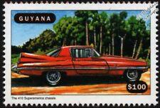 FERRARI 410 SuperAmerica Ghia Coupe Car Mint Automobile Stamp (1998 Guyana)