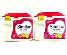 2 Pack Similac Soy Isomil for Fusiness & Gas Baby Formula Exp. 07/2020